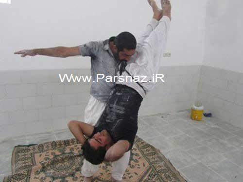 این مرد عجیب ایرانی با دندان های فولادی + عکس