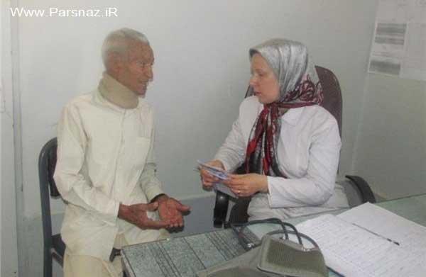 یک خانم پزشک مهربان روسی در روستاهای ایران + عکس