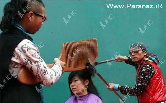 خنده دارترین روش کوتاه کردن مو یک دختر + عکس