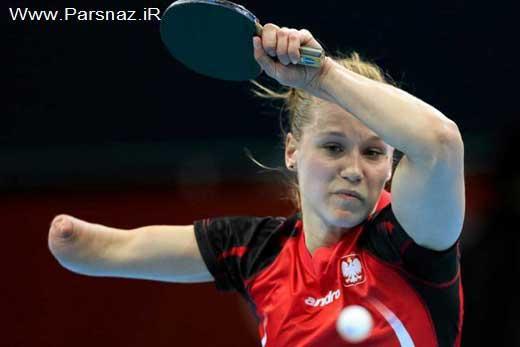 www.parsnaz.ir - شگفتی آور المپیک پینگ پنگ باز معلول خانم + عکس