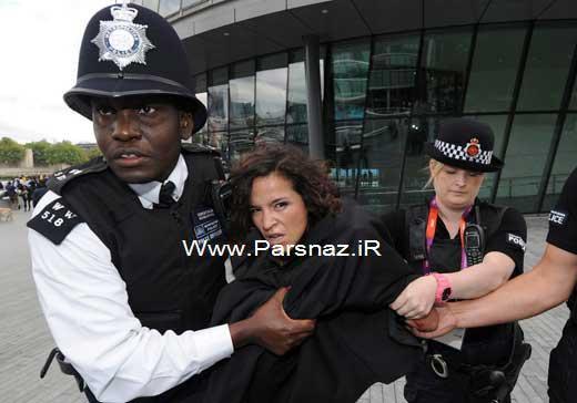 اقدام ضد اسلامی زنان برهنه در المپیک لندن + عکس
