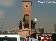 برهنه شدن یک ایرانی کنار مجسمه آتاتورک در ترکیه + عکس