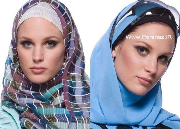 عکس هایی از مدل روسری جدید