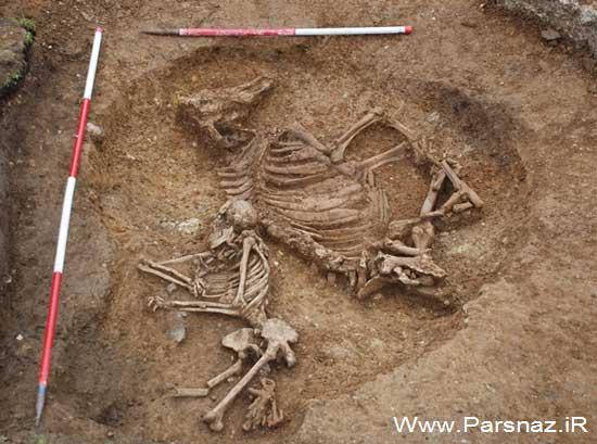 پیدا شدن مقبره یک زن ثروتمند آنگلو ساکسون در بریتانیا