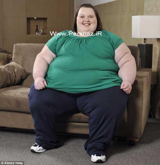 یکی از چاق ترین دختر جهان در حال کاهش وزن است +تصاویر