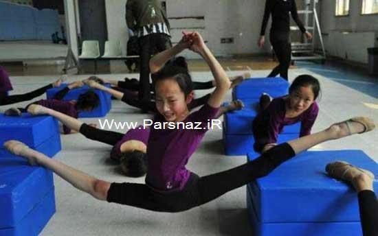 سختی ها در مدرسه ژیمناستیک دختران در چین + تصاویر