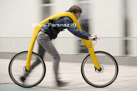 دوچرخه بسیار عجیب که تابحال ندیده اید + عکس