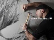 نقاشی های زیبای این هنرمند با میخ و چکش + عکس