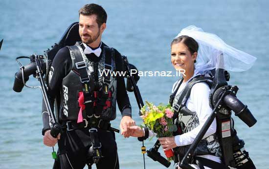 www.parsnaz.ir -  مراسم هیجان انگیز اولین عروس و داماد پرنده + عکس