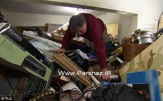 این مرد 55 ساله باید در خانه اش کوهنوردی کند + تصاویر