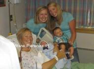 این مادربزرگ نوه اش را باردار بود و به دنیا آورد + عکس