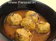 طرز تهیه قرمزه نخودچی غذاهای سنتی اصفهان