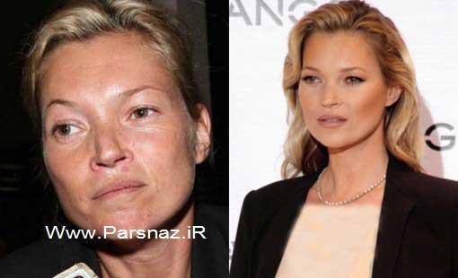 عکسهای دیدنی از چهره مانکن های معروف جهان بدون آرایش