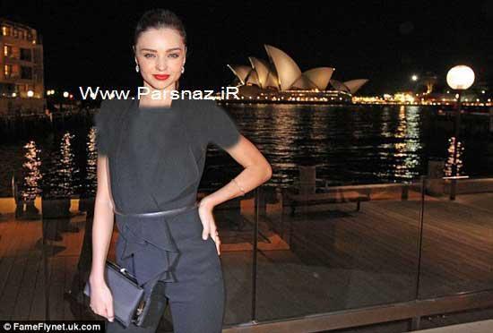 میراندا کر زیباترین مانکن معروف و شوهرش در استرالیا +عکس