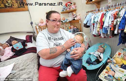 این زن عجیب با عروسک ها شوهر خود را فراری داد + عکس