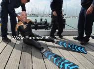 شناگر بدون دست و پا که در جهان شگفتی ایجاد کرد +عکس
