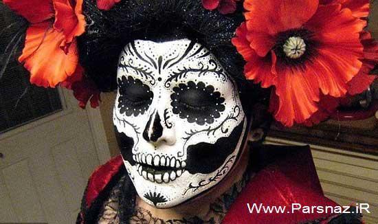 www.parsnaz.ir - هنرنمایی و خلق چهره های ترسناک توسط خانم آرایشگر