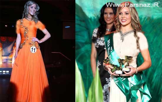 مدل معروف زیباترین دختر استرالیا در سال 2012 + عکس