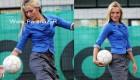 خانم ملكه زیبایی کرواسی مربی فوتبال مردان شد (+عکس)