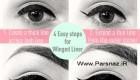 آموزش کشیدن خط چشم بالدار!! (عکس)