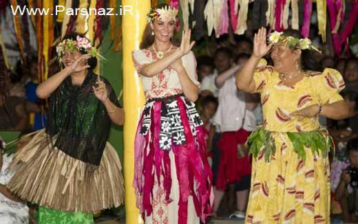 www.parsnaz.ir - لباس سنتی و رقص خانم کیت میدلتون سوژه جدید رسانه ها