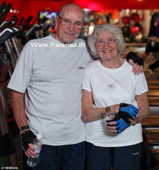 این زوج 80 ساله عاشق مردم را شگفت زده کردند + عکس
