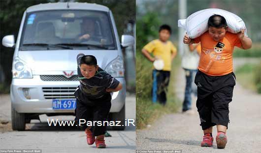 قدرت بدنی بسیار عجیب این پسر بچه چینی + عکس