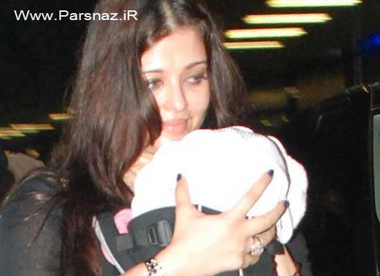 دختر آشواریا رای بازیگر محبوب جهان بالاخره دیده شد +عکس