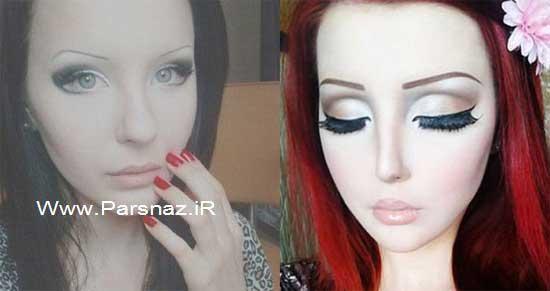 www.parsnaz.ir - دختری خود را با عمل زیبایی به شخصیت کارتونی تبدیل کرد