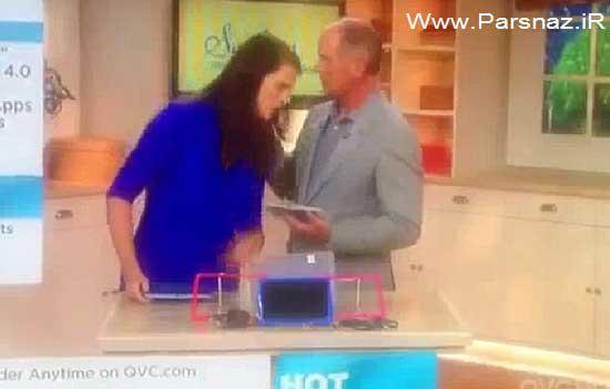 غش کردن خانم کارشناس در برنامه زنده تلوزیونی + عکس