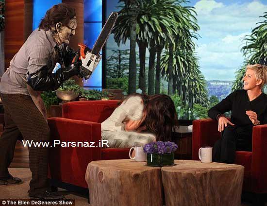 ترسیدن و وحشت سلنا گومز در یک برنامه تلویزیونی + عکس