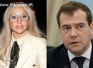 تشکر ویژه لیدی گاگا خواننده هالیوودی از نخست وزیر روسیه