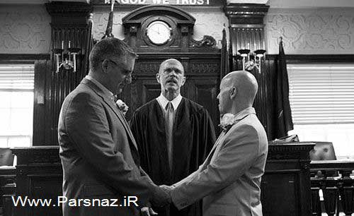 www.parsnaz.ir - عکس هایی از ازدواج احمقانه و باورنکردنی همجنس بازها
