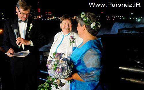 عکس هایی از ازدواج احمقانه و باورنکردنی همجنس بازها