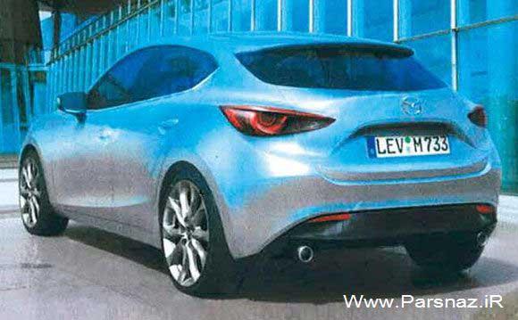 www.parsnaz.ir - نسل جدید اتومبیل مزدا 3 خودرویی مهم برای شرکت مزدا