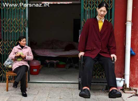 www.parsnaz.ir - قد بلندترین دختر دنیا درکذشت (عکس)