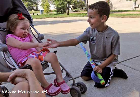 اقدام شگفت انگیز این پسر برای دختر همسایه (عکس)