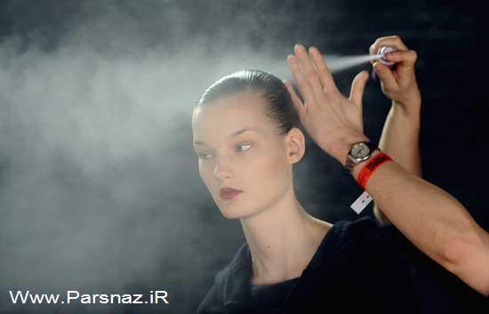 عکس هایی از مانکن ها و مدل ها در پشت صحنه مراسم