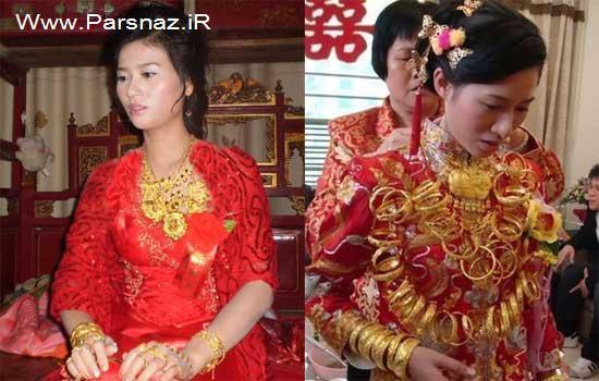 این عروس خانم با 5 کیلو گرم طلا به شهرت جهانی رسید