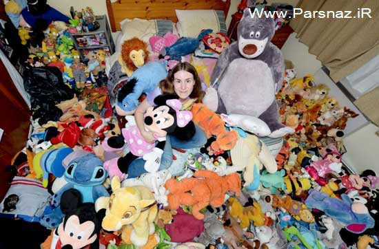 عشق عجیب این خانم 27 ساله آمریکایی به عروسک (عکس)