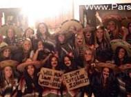 مبارزه علیه نژاد پرستی به روش دانشجویان دختر امریکایی!!