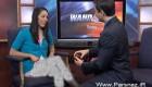 خواستگاری جالب و رومانتیک آقای مجری حین اجرای زنده اخبار