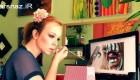 عکس هایی از هنرمندی این خانم در آرایش کردن دور چشم ها
