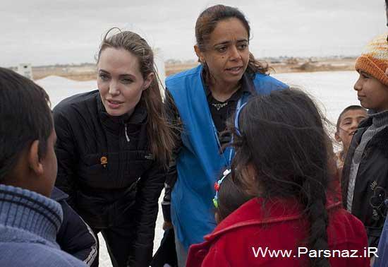 www.parsnaz.ir - رفتن دوباره آنجلینا جولی به کمپ پناهندگان سوری (عکس)