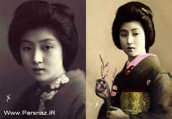 عکس های زیباترین دختر ژاپن در 100 سال پیش