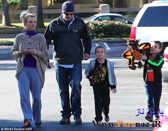 گردش بریتنی اسپیرز خواننده معروف و پسرانش (عکس)