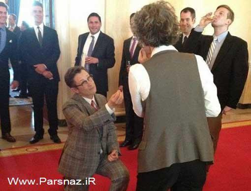 مراسم ازدواج همجنس بازان نظامی در کاخ سفید (عکس)