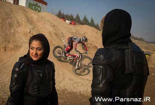 عکس هایی جالب از موتورسواری کردن خانم ها در تهران