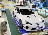 تولید اتومبیل زیبای لکسس LFA هم به پایان رسید