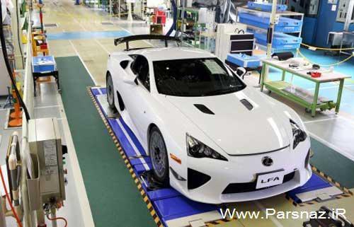www.parsnaz.ir - تولید اتومبیل زیبای لکسس LFA هم به پایان رسید